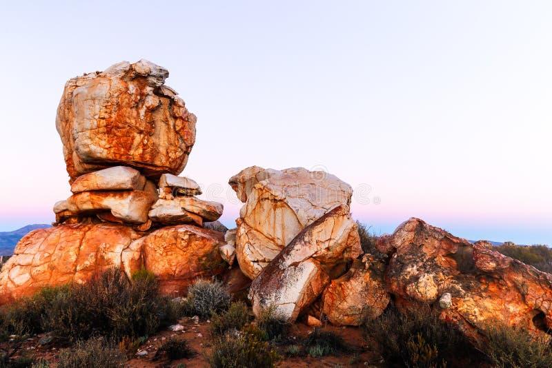 Roca en la montaña fotografía de archivo