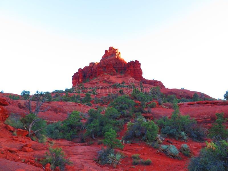 Roca en Sedona, Arizona de Bell imagen de archivo