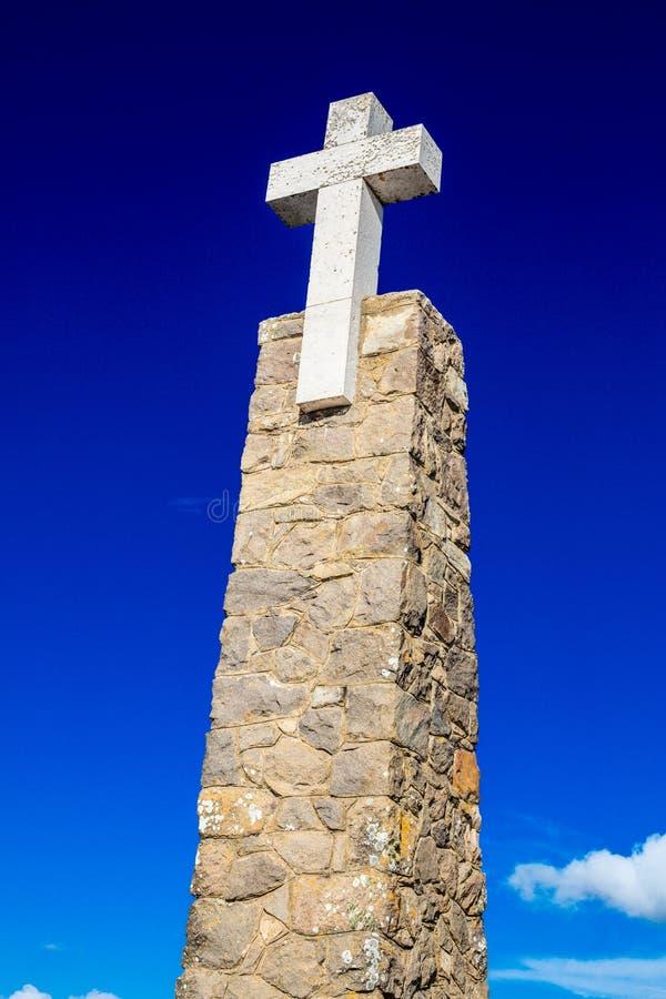 roca för caboda portugal Mest västra punkt av Europa fotografering för bildbyråer