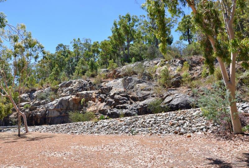 Roca natural en Australia serpentina, occidental foto de archivo libre de regalías