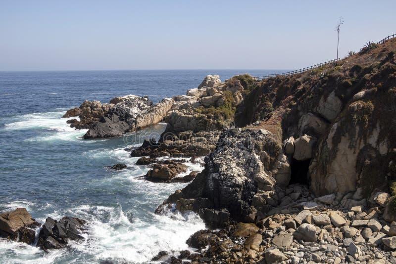 Roca Oceanica: Santu?rio da natureza em um promont?rio rochoso pequeno que caracteriza ?reas da observa??o imagens de stock