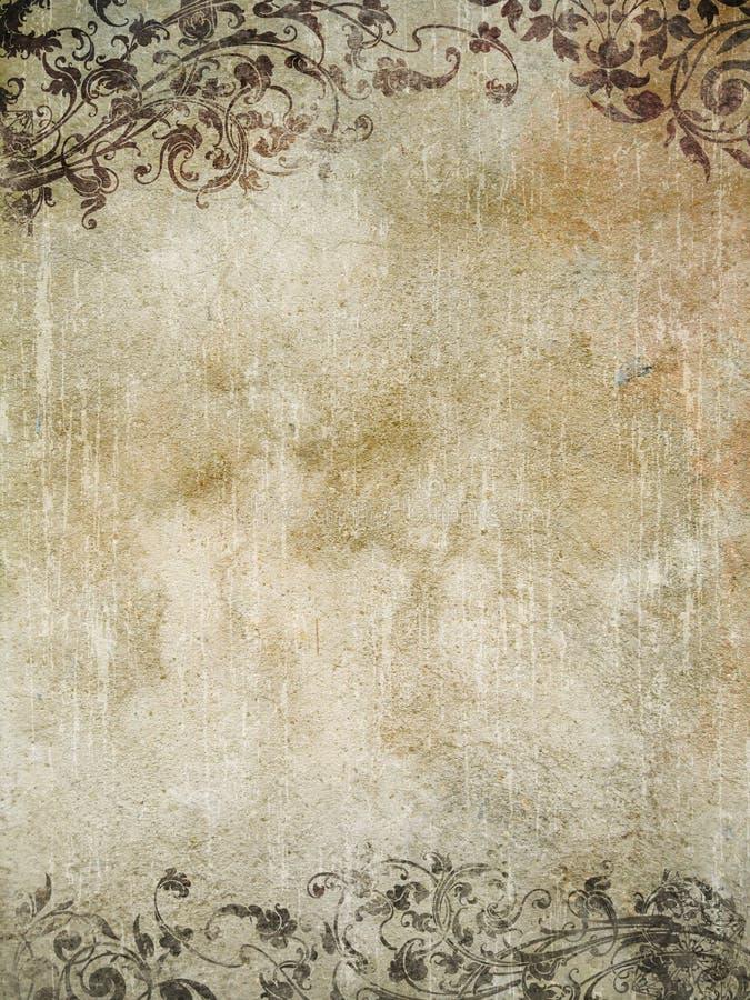 Roca ornamental de Grunge fotos de archivo