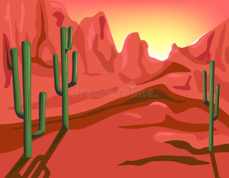 Roca roja stock de ilustración