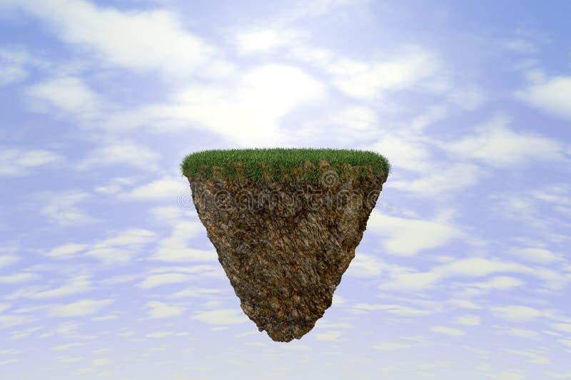 Roca suspendida en espacio libre illustration