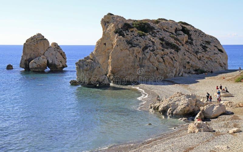 Roca turística famosa del ` s del Aphrodite de la señal fotos de archivo libres de regalías