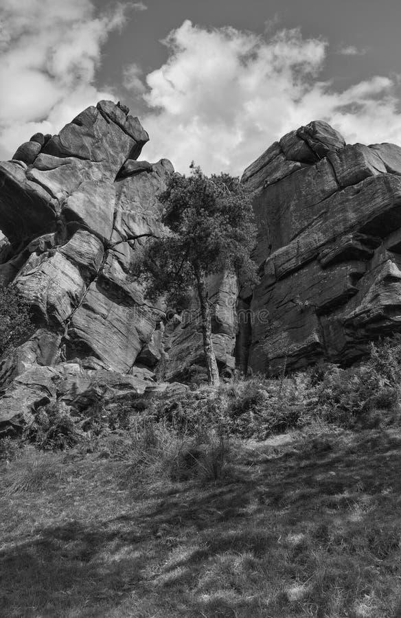 Roca y un lugar duro imagen de archivo libre de regalías