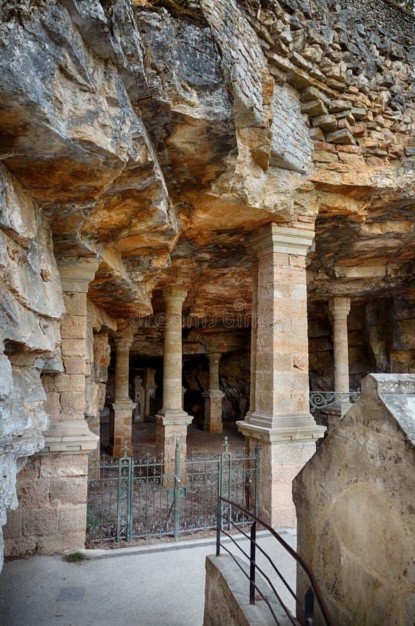 Rocamadour, één van het mooiste dorp in Frankrijk, de kerk van Heilige Amadour royalty-vrije stock afbeeldingen