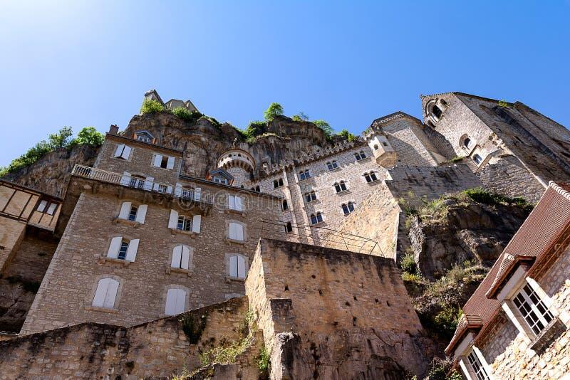 Rocamadour, садить на насест город Périgord в Франции стоковые фото