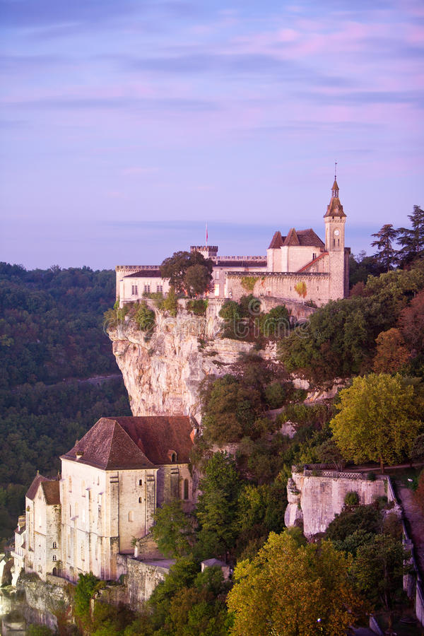 Rocamadour at dawn Lot France stock photo