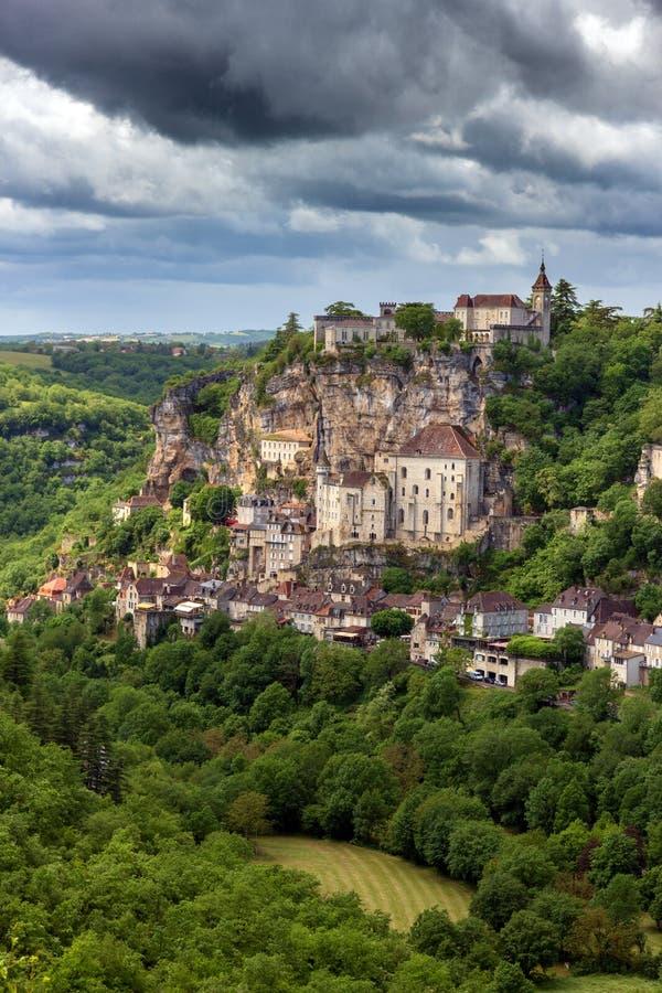 Rocamadour by Dordogne Frankrike fotografering för bildbyråer