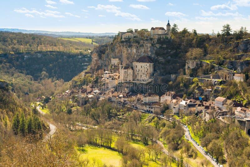 Rocamadour by, Frankrike royaltyfria bilder