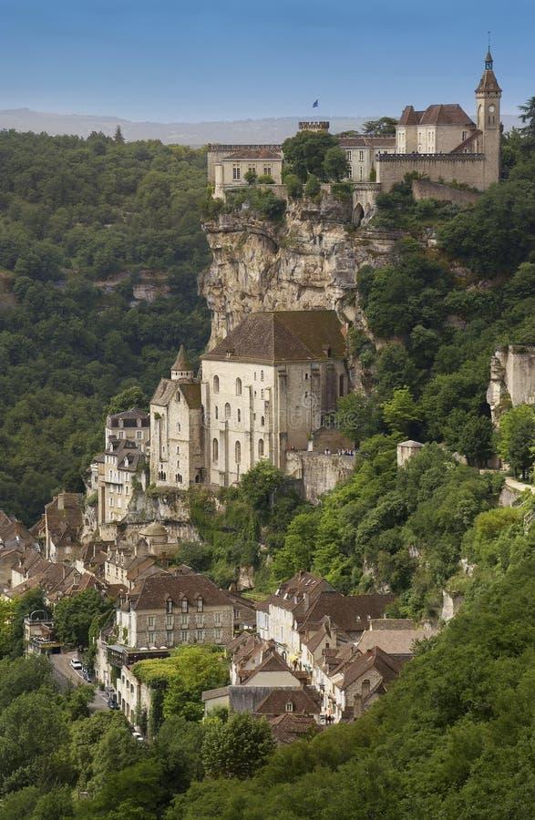Rocamadour - het gebied van de Partij - Frankrijk stock afbeeldingen