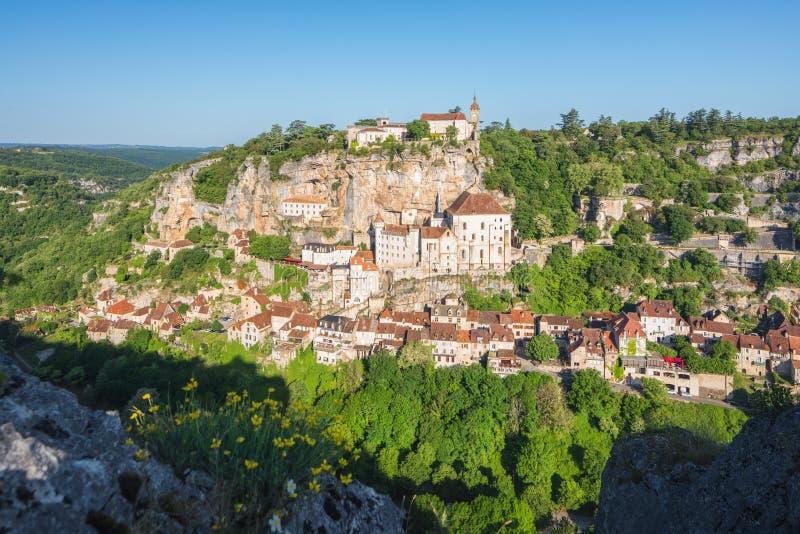 Rocamadour i lottavdelning i Frankrike royaltyfria foton