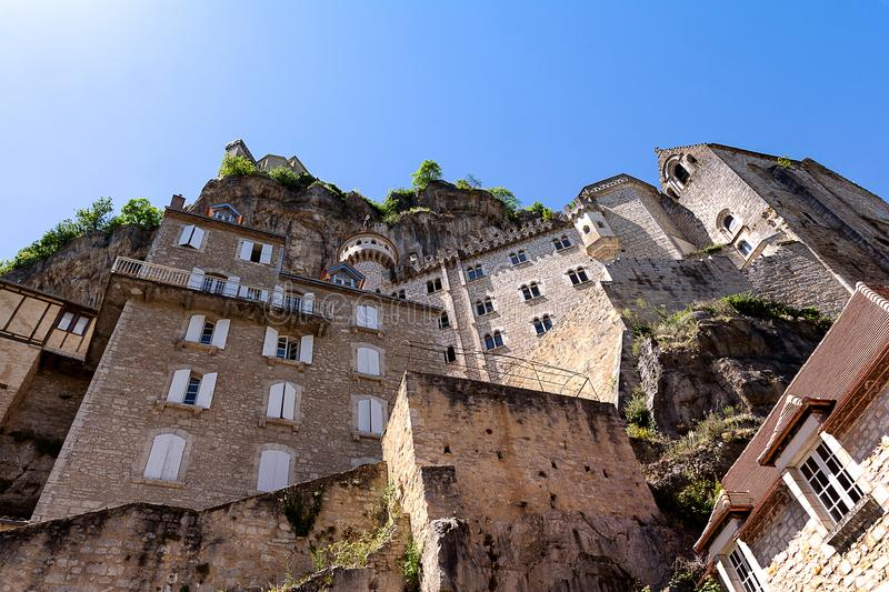 Rocamadour, perched city of Périgord in France stock photos