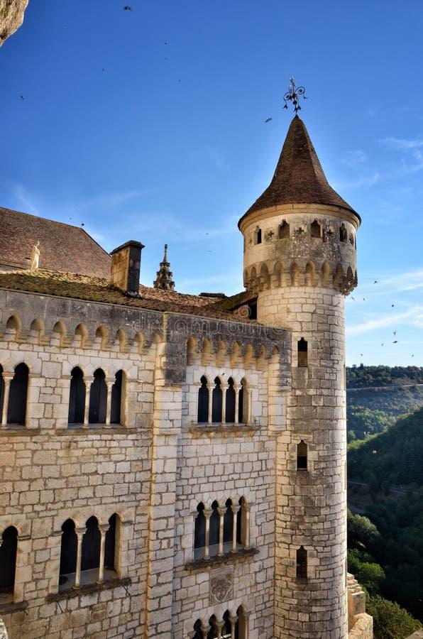 Rocamadour, uma da vila a mais bonita em França, destino religioso imagens de stock royalty free