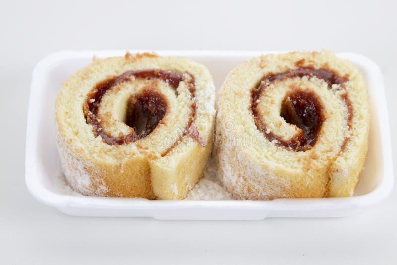 Rocambole Κυλημένο κέικ κολλών γκοϋαβών βραζιλιάνα τρόφιμα στοκ εικόνα
