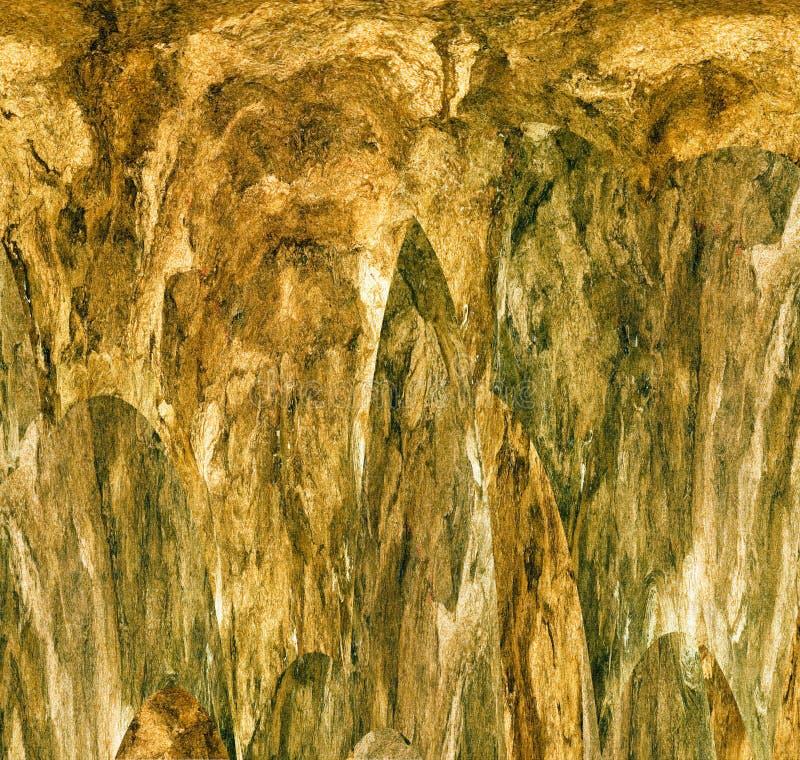 Rocas abstractas en un fondo texturizado ilustración del vector