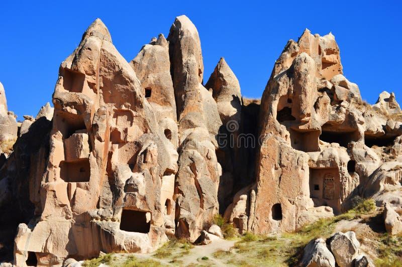 Rocas de Cappadocia en Anatolia central, Turquía imagenes de archivo