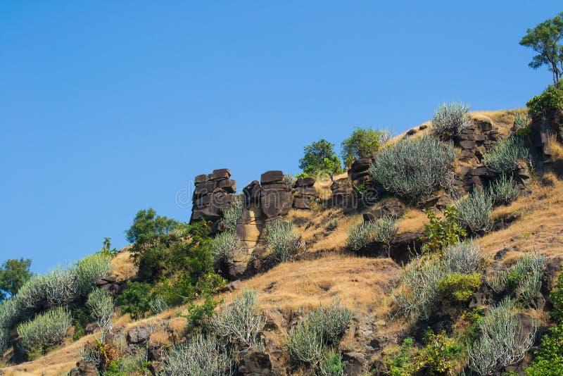 Rocas de equilibrio Mandu Mandav Madhya Pradesh fotografía de archivo