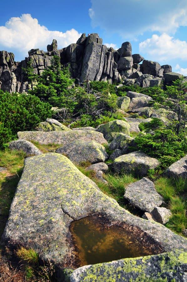 Rocas de Karkonosze foto de archivo libre de regalías