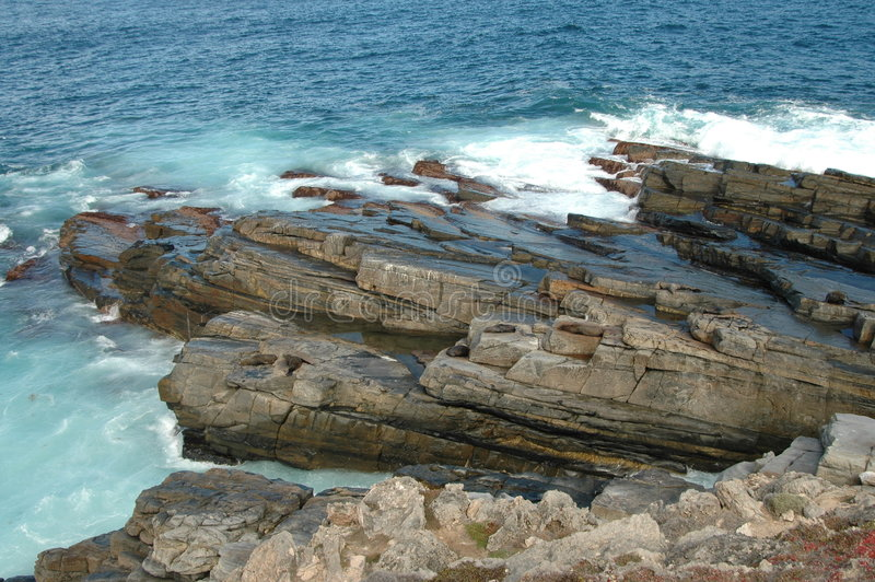 Rocas de la crepe fotografía de archivo