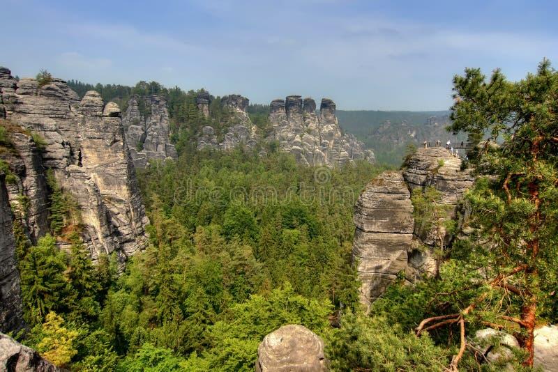 Rocas de la piedra arenisca foto de archivo