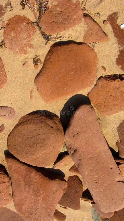 Rocas de la piedra arenisca roja imagen de archivo