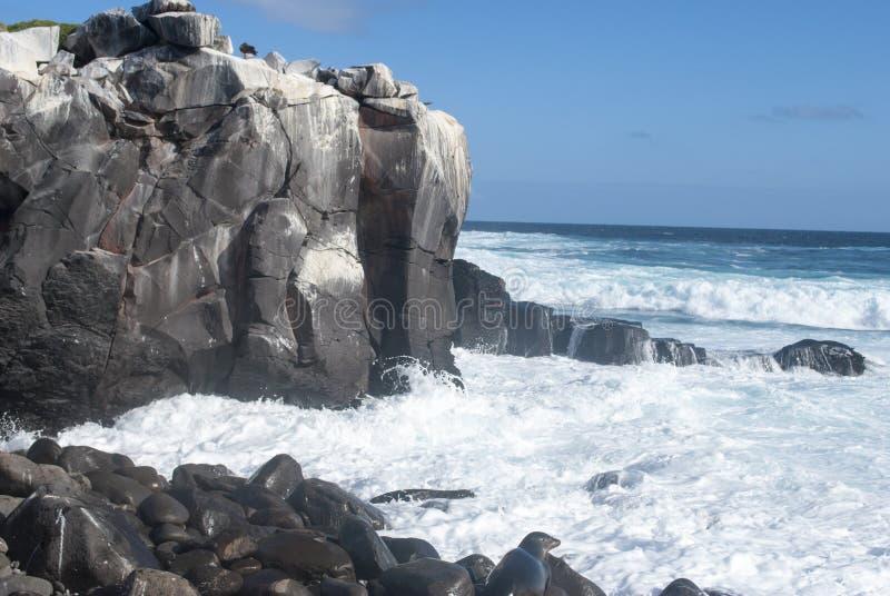 Rocas de las islas de las Islas Galápagos foto de archivo libre de regalías