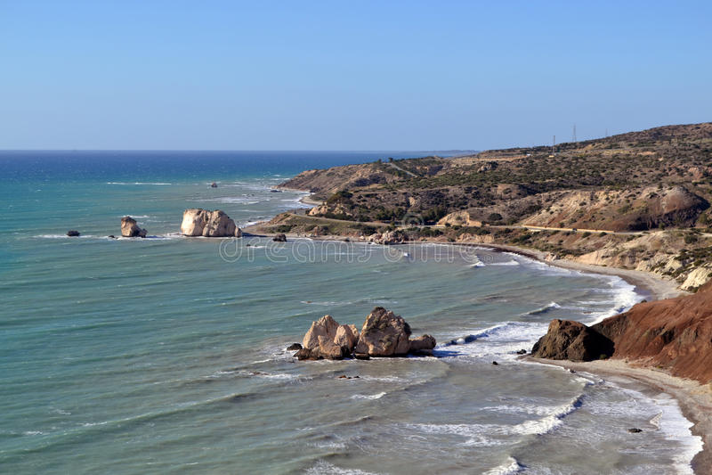 Rocas del Aphrodite, Paphos, Chipre fotos de archivo
