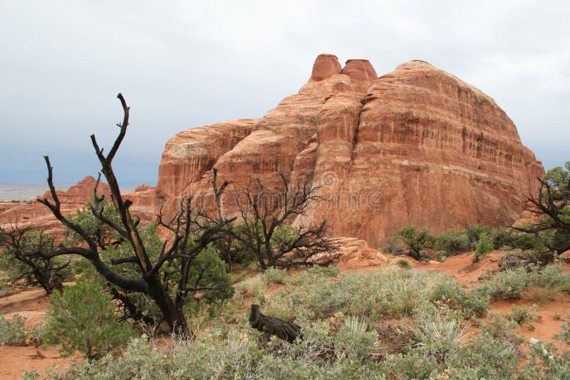 Rocas del parque nacional de los arcos fotos de archivo libres de regalías