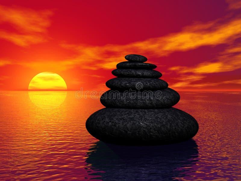 Rocas del zen ilustración del vector