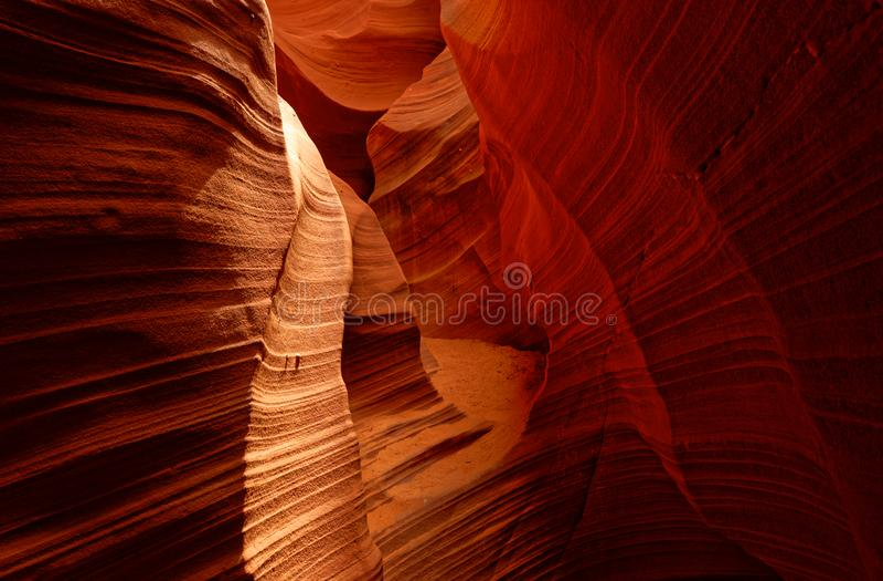 Rocas en barranco del antílope foto de archivo