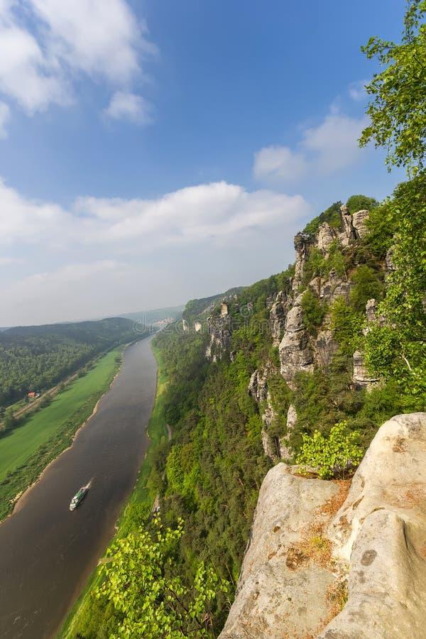 Rocas en Bastei fotografía de archivo libre de regalías