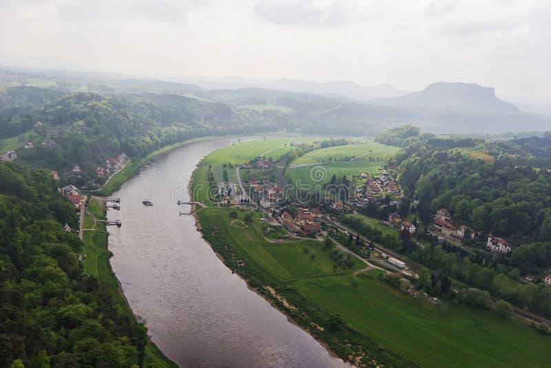 Rocas en Bastei imagen de archivo libre de regalías