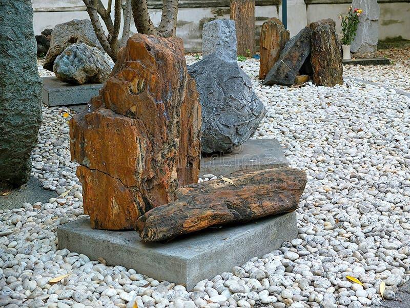 Rocas en el jardín fotos de archivo