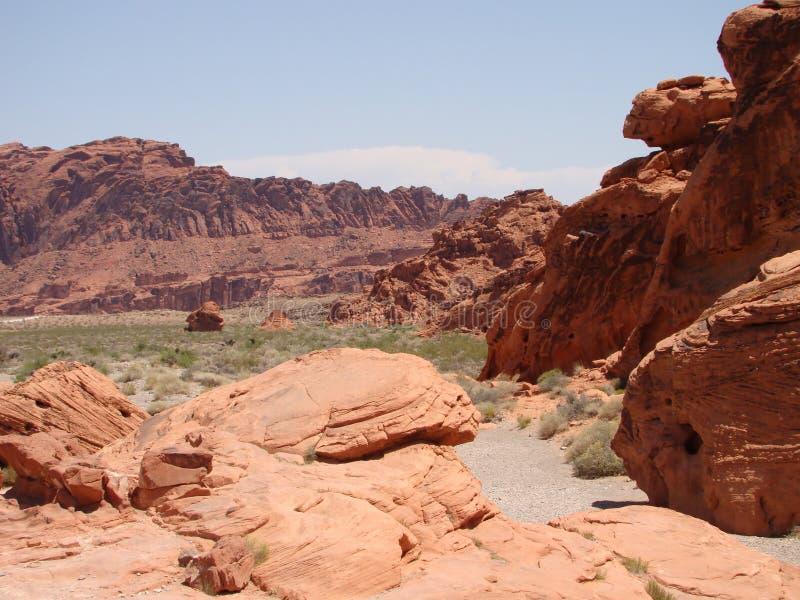 Rocas en el valle del fuego imagen de archivo