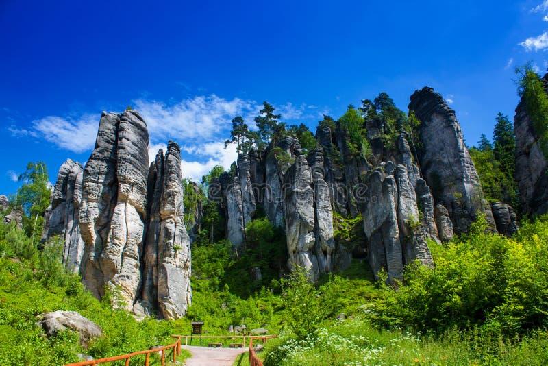 Rocas en República Checa fotografía de archivo libre de regalías