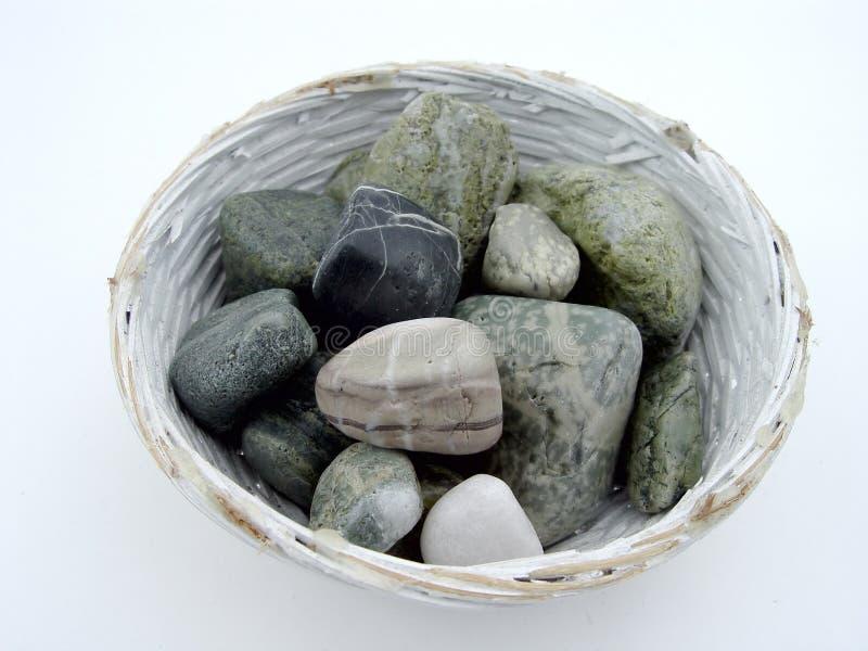 Rocas En Tazón De Fuente Fotos de archivo