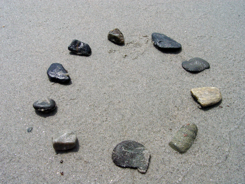 Rocas en un círculo