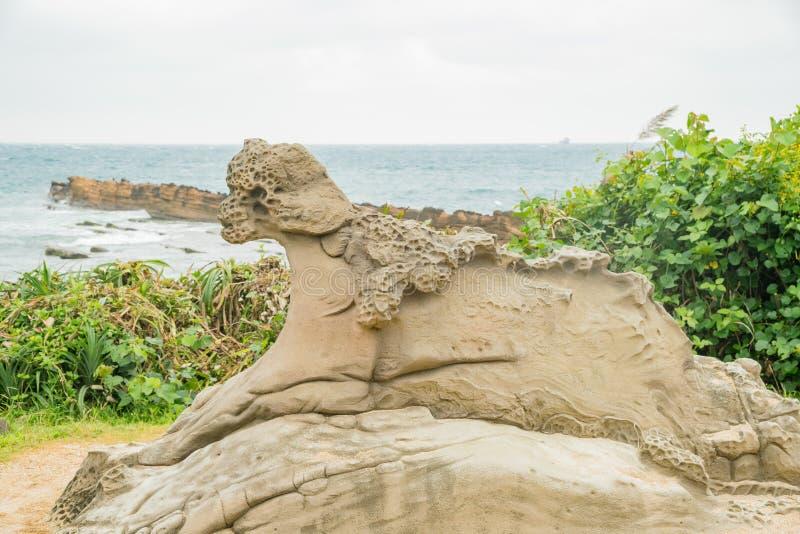 Rocas especiales en Yehliu Geopark fotografía de archivo