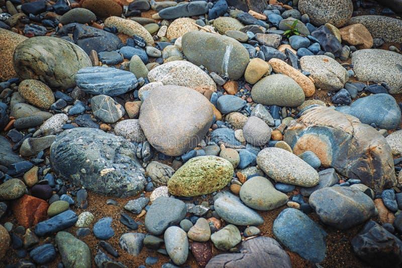 Rocas formadas fluviales del río foto de archivo libre de regalías