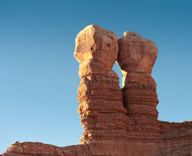 Rocas gemelas, peñasco Utah imagenes de archivo
