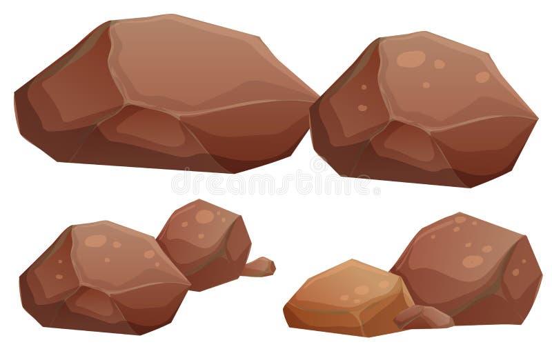 Rocas grandes y pequeñas ilustración del vector