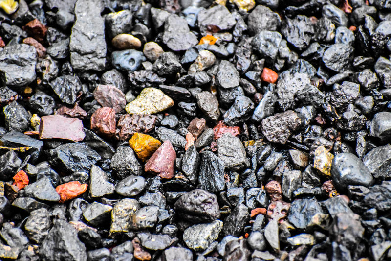 Rocas mojadas foto de archivo libre de regalías
