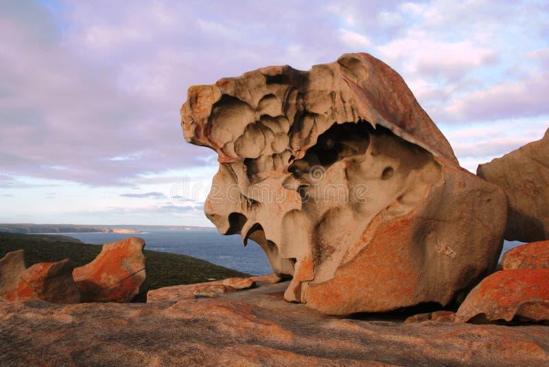 Rocas notables, isla del canguro fotografía de archivo libre de regalías