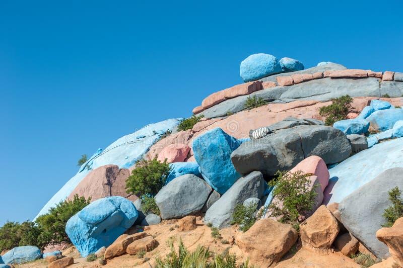 Rocas pintadas, Tafraoute, Marruecos imagen de archivo