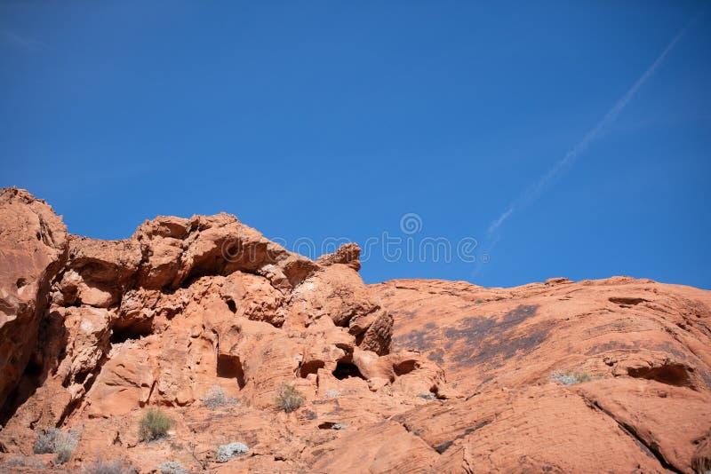 Rocas rojas en el valle del fuego - Nevada State Park imagenes de archivo