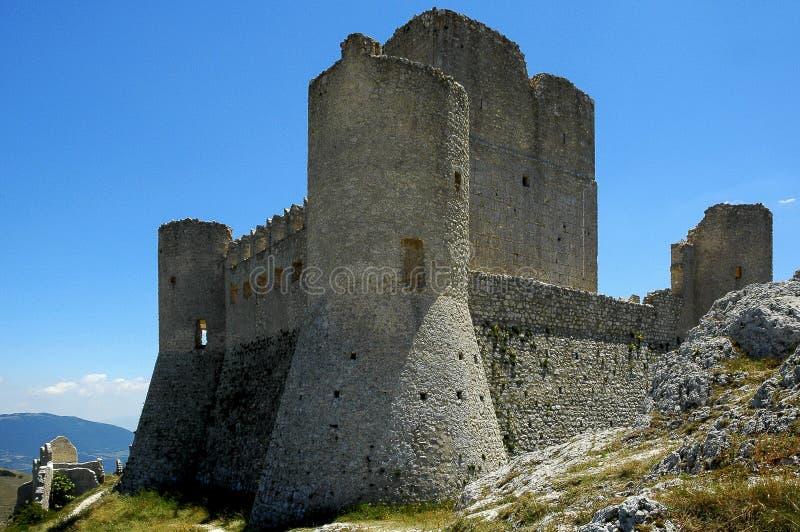 Rocca卡拉肖,阿布鲁佐,意大利 库存图片