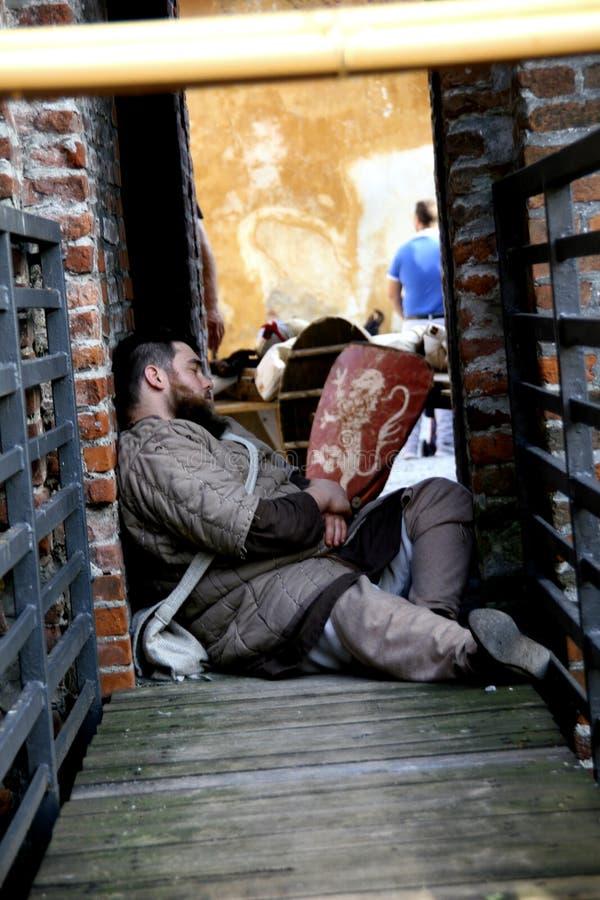 Rocca的围困,在Soncino -伦巴第-意大利- 2018年10月第6和7日 免版税库存图片