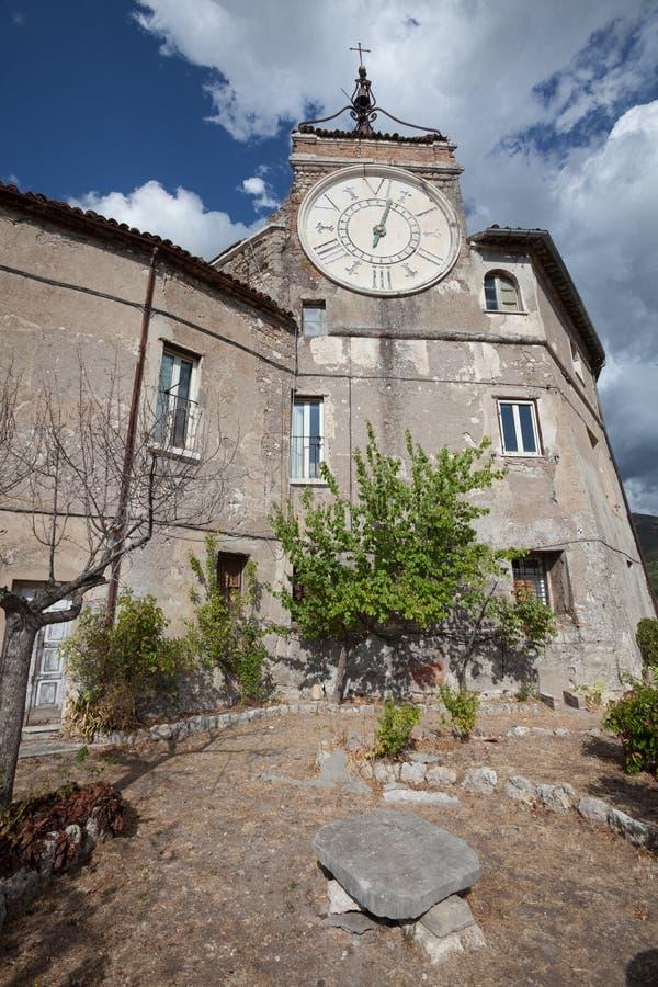 Rocca Abbaziale, Rocca dei Borgia Subiaco, Włochy zdjęcie stock